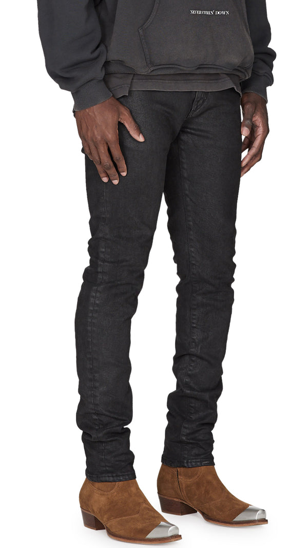 Flared Denim - Waxed Black