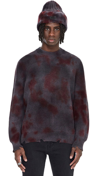 Represent x Laneus Sweater - Black/Red Tie Dye