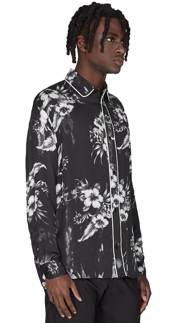 Dinner Shirt - Monochrome Floral