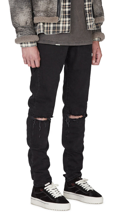 Destroyed Baggy Denim - Black