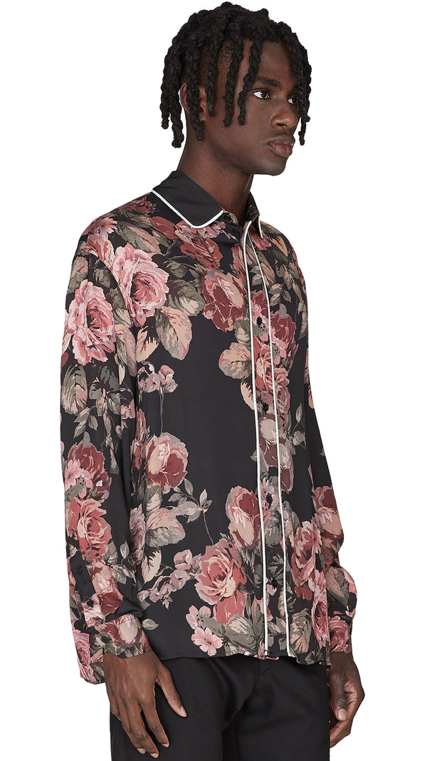 Dinner Shirt - Painted Floral