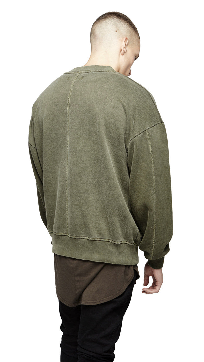Sweater - Washed Burnt Olive