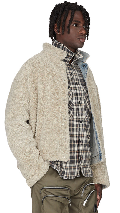 Sherpa Denim Jacket - Pale