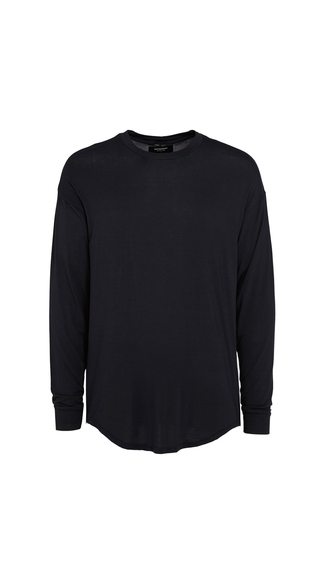 Long Sleeve Essential Scooped T-shirt - Black