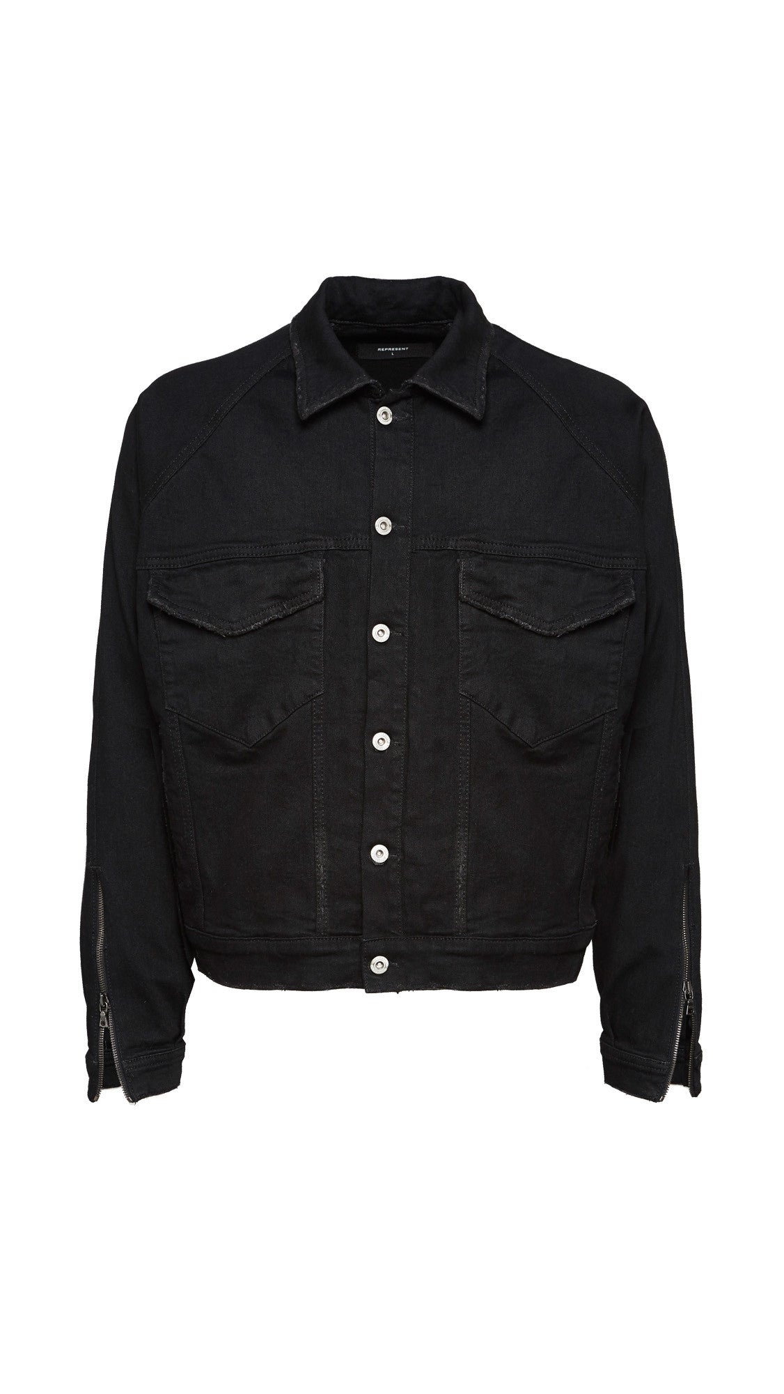 Basic Selvedge Denim Jacket - Black