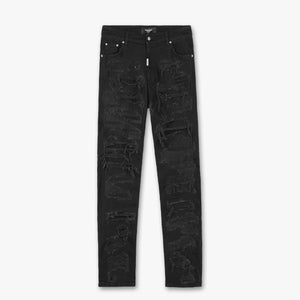 Baggy Shredded Denim - Black