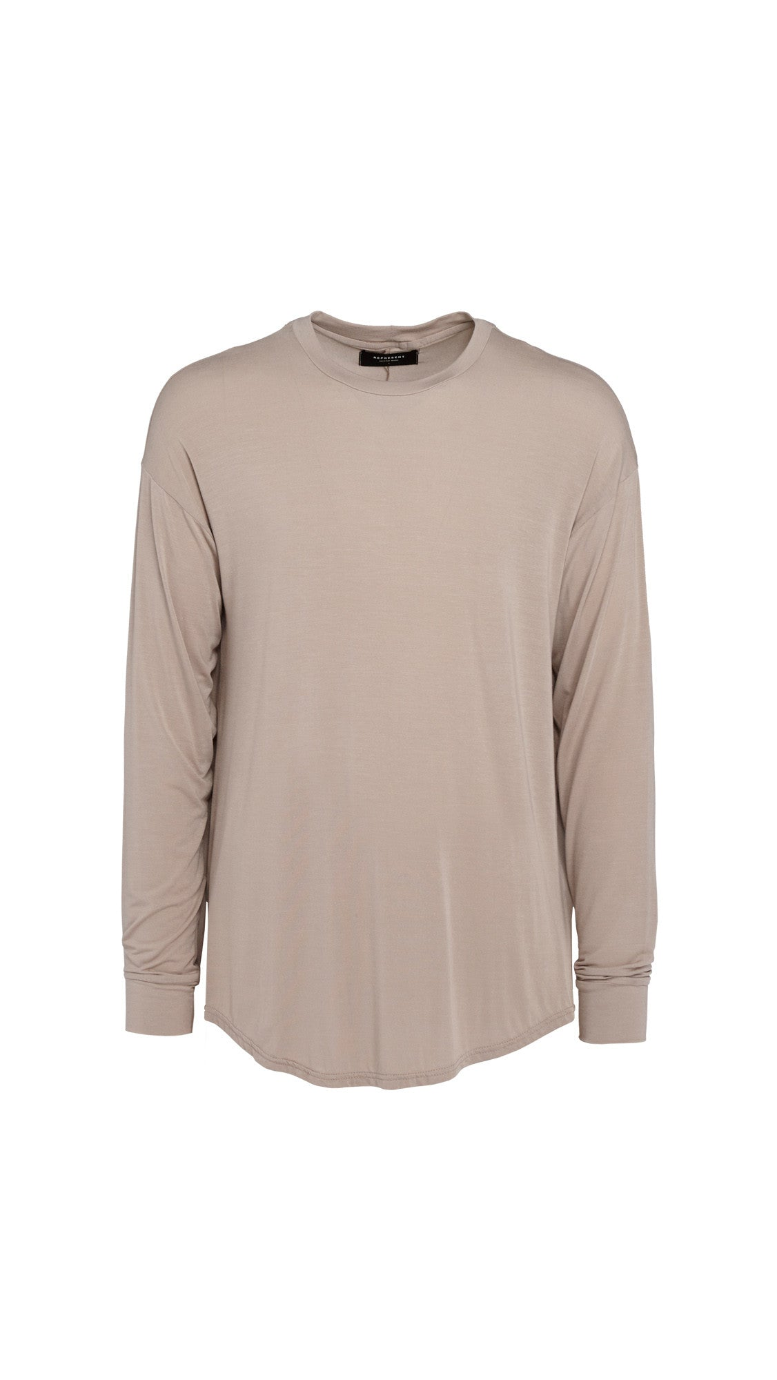 Long Sleeve Essential Scooped T-shirt - Bone