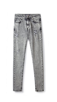 Distressed Denim - Acid Grey