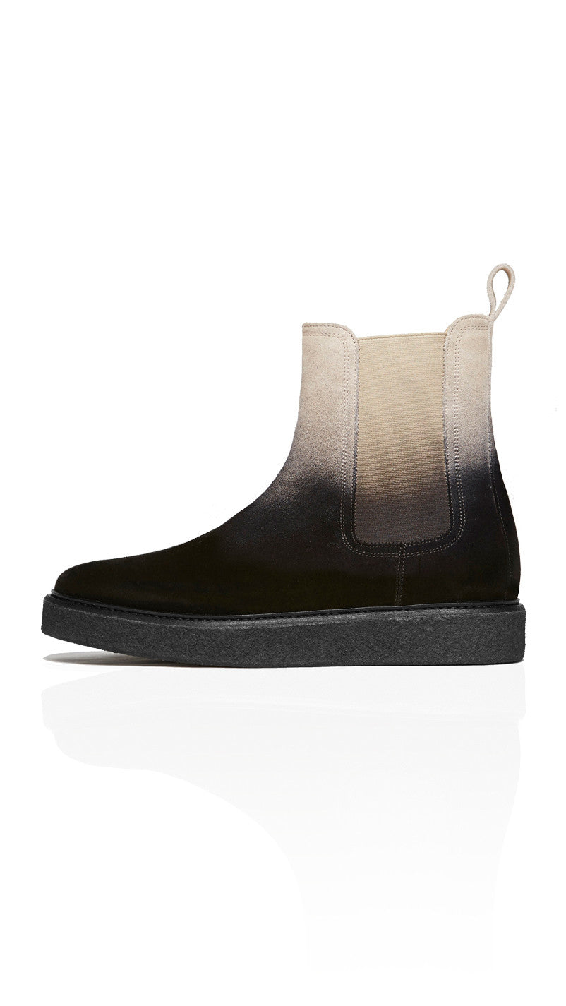 Wedge Boot - Gradient / Black Crepe