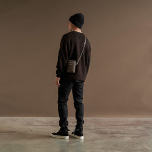 Cardigan - Washed Brown