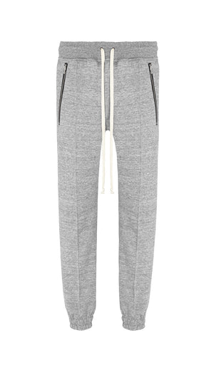 Pleated Joggers - Grey