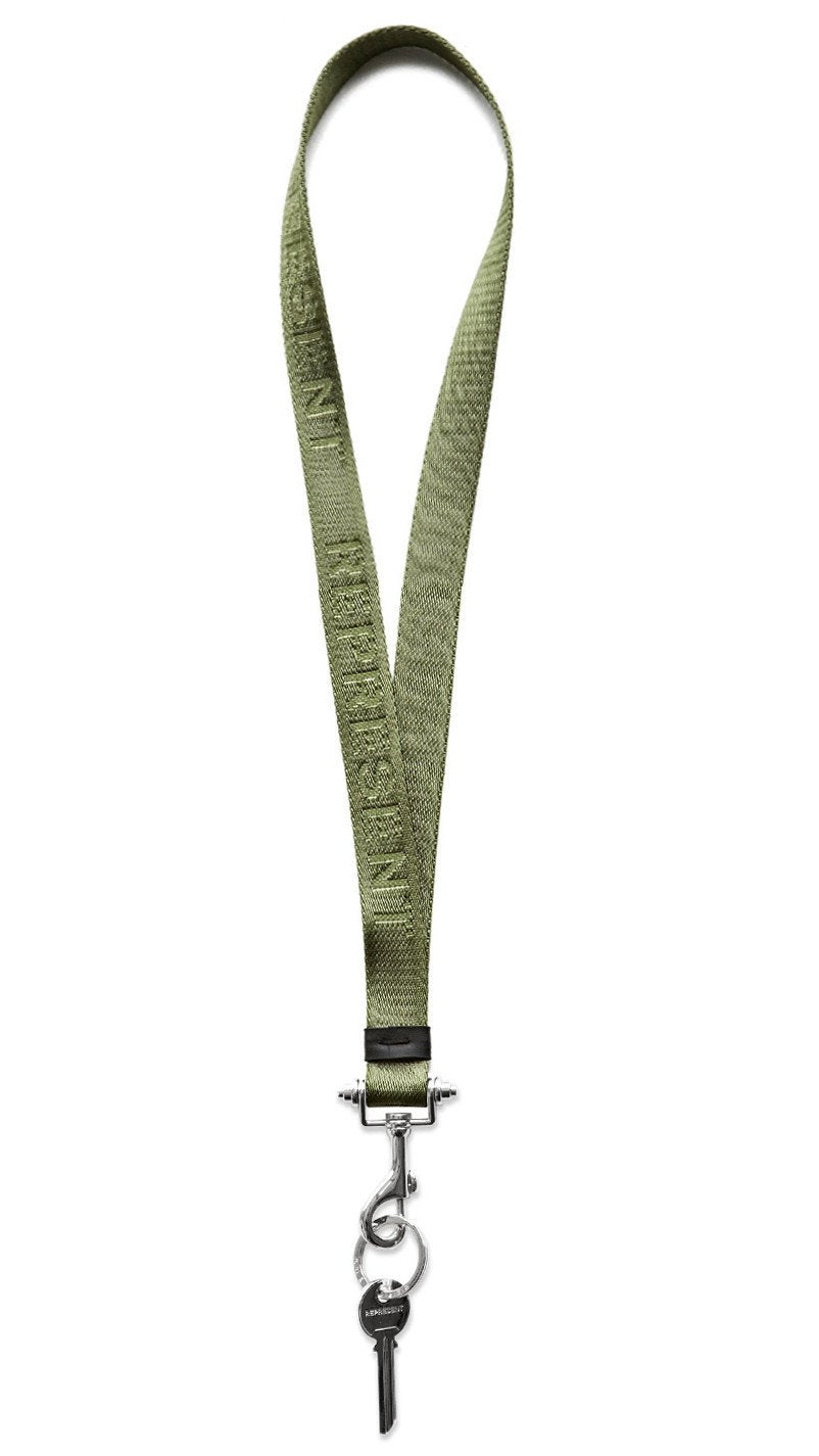 Olive / Silver Lanyard