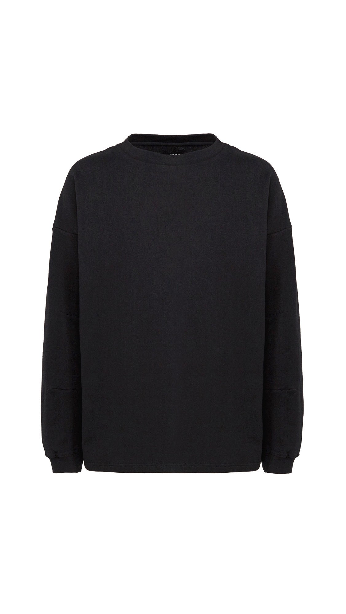 Heavy Long Sleeve Over T-shirt - Black