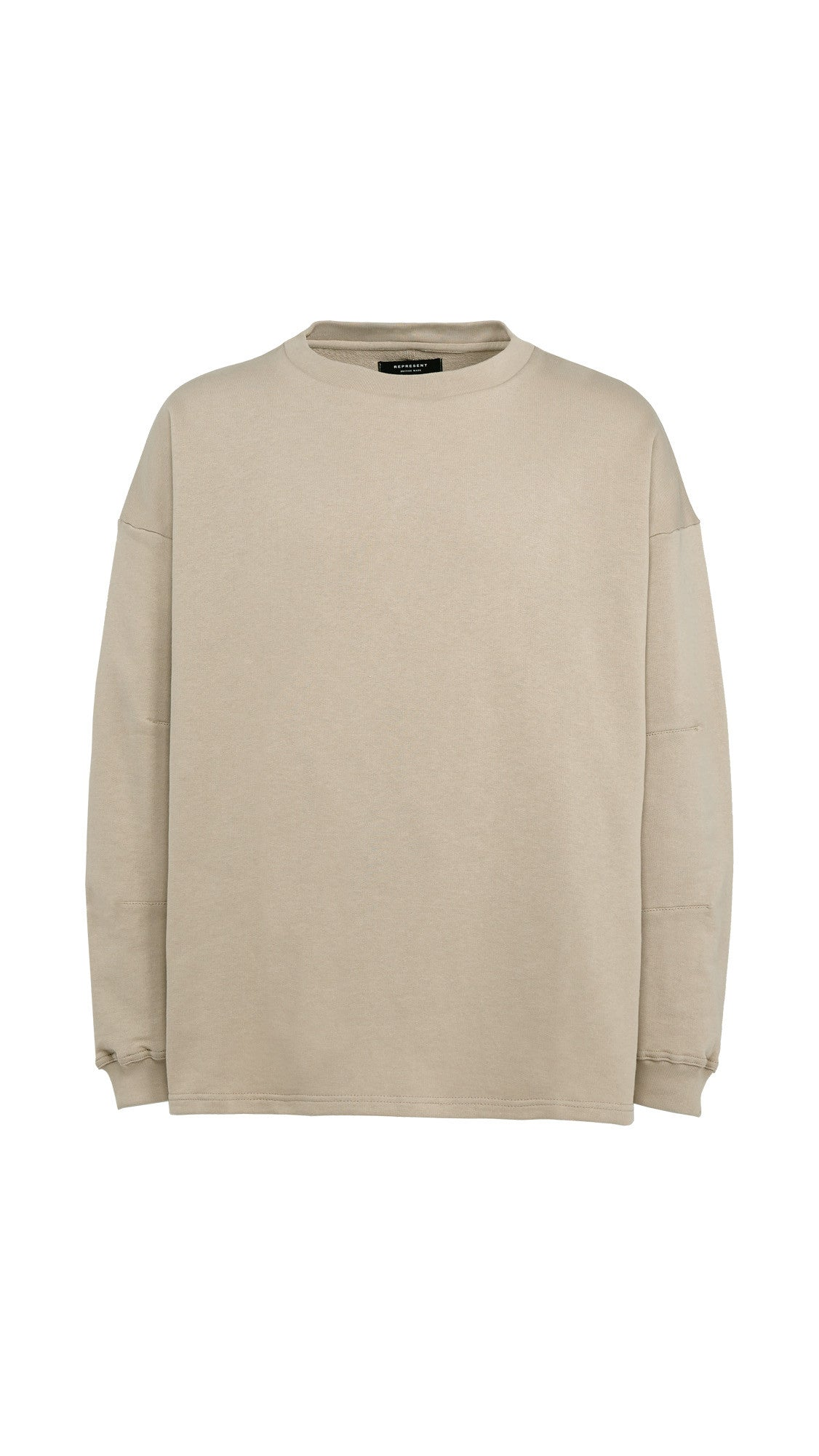Heavy Long Sleeve Over T-shirt - Bone