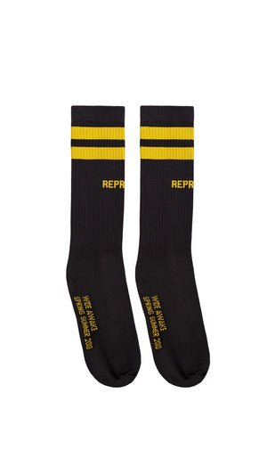 SS18 Team Sock - Black & Yellow