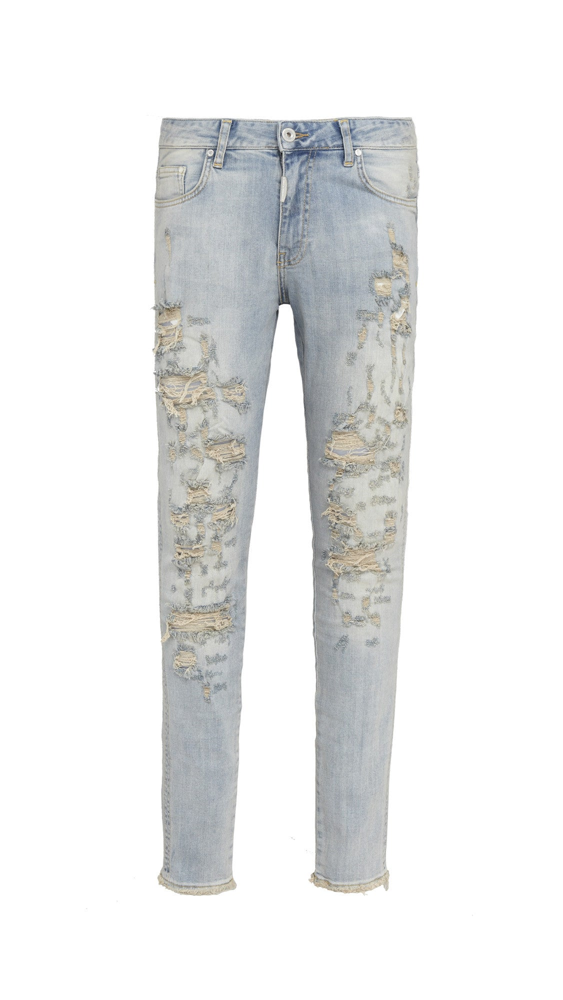 Shredded Denim - Pale Blue