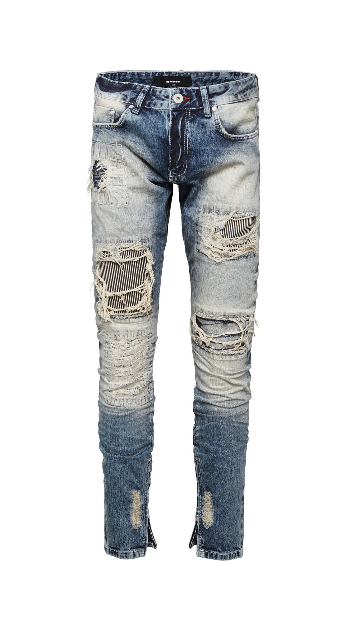 Patchwork Selvedge Denim - Random Blue