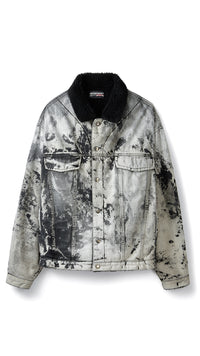 Sherpa Denim Jacket - Electric