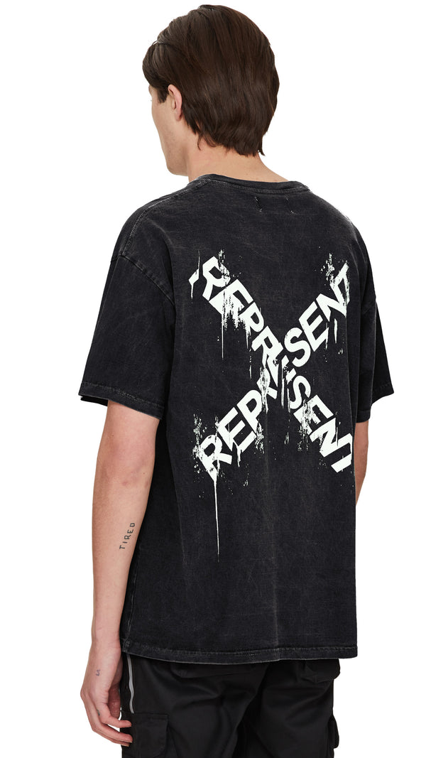 Destroyed Logo T-Shirt - Washed Black