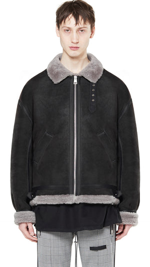 Shearling Jacket - Matte Grey