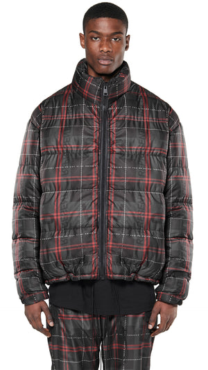Bubble Jacket - Hell Tartan