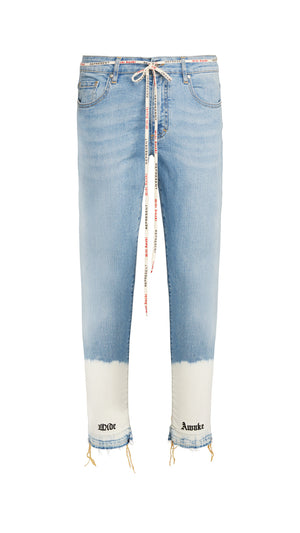 Cropped Denim - Blue Stonewash