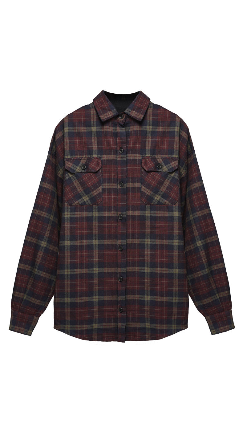 Flannel Shirt - Black Cherry