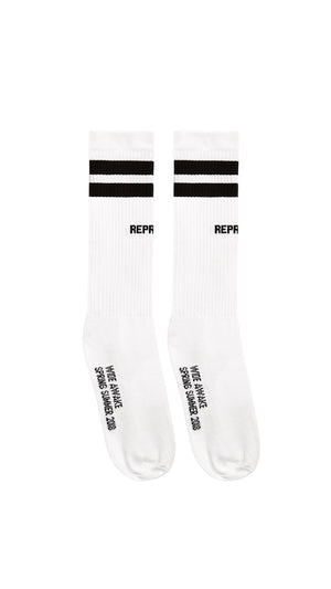SS18 Team Sock - White & Black