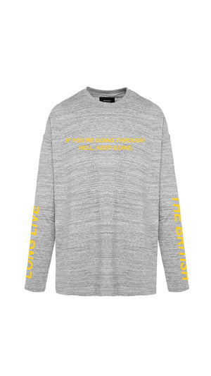 Hell Long Sleeve T-Shirt - Grey
