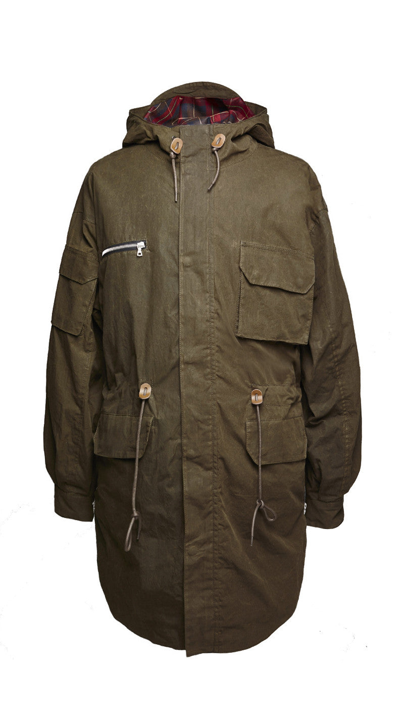 Scooped Parka - Burnt Olive Beeswax