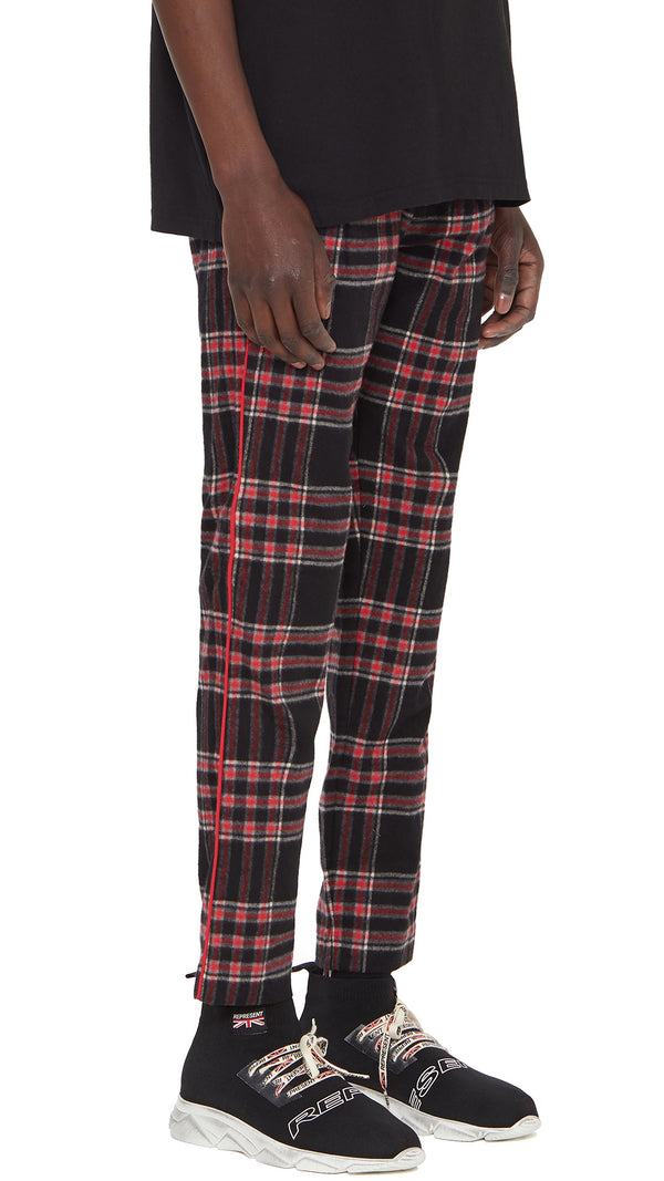 Smoking Pants - Black Tartan