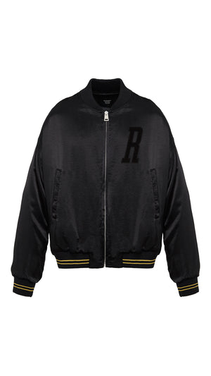 Bomber Jacket - Matte Black Silk
