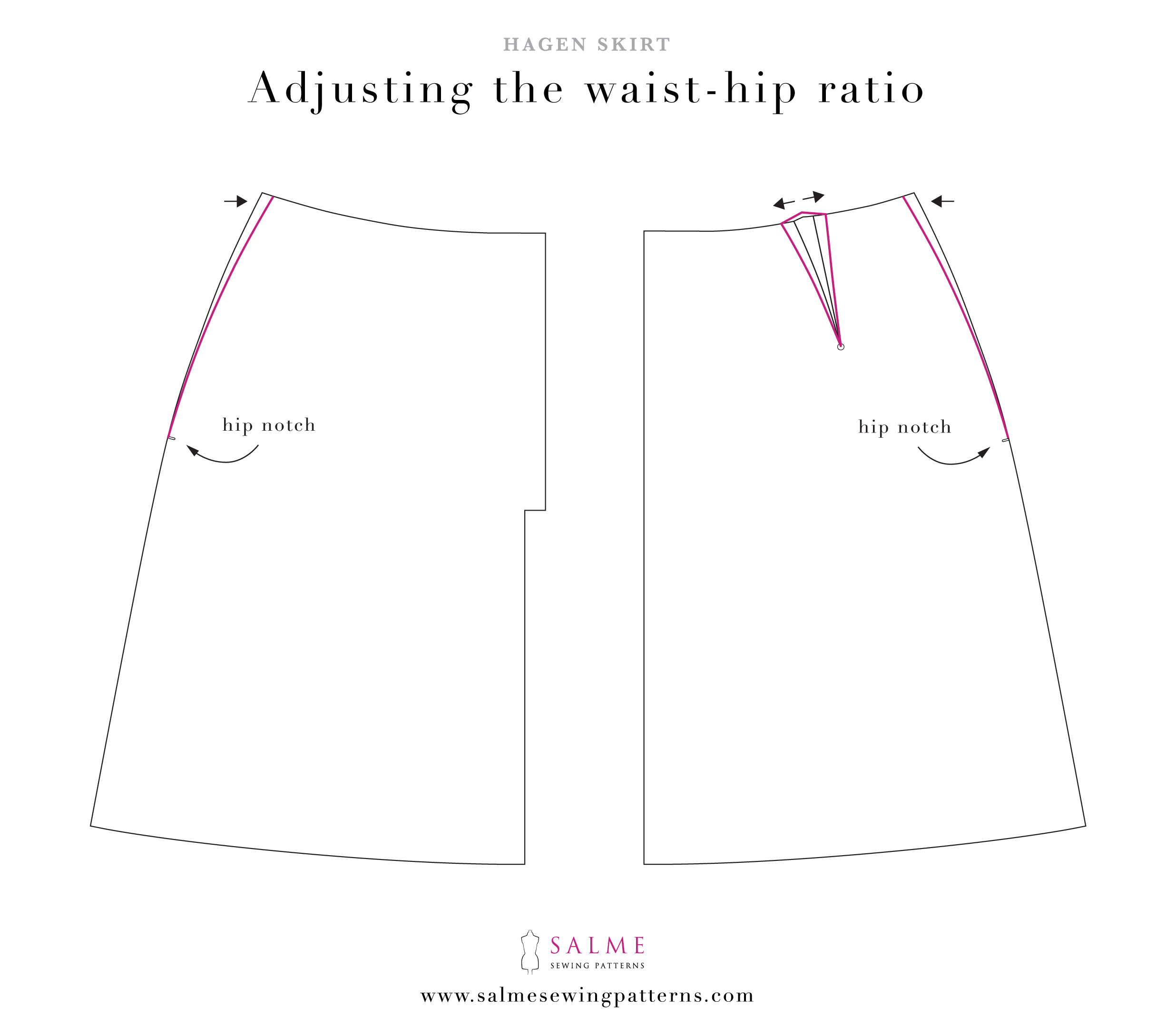 Hagen skirt pattern alteration