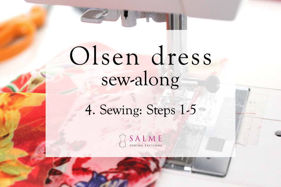 Olsen dress sew along step 4