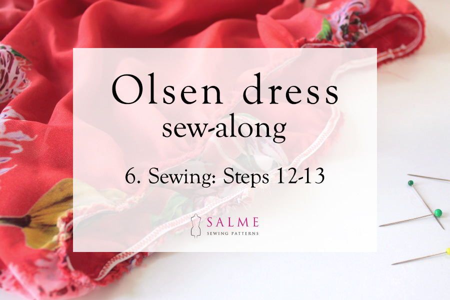 Olsen dress sew along Part 6