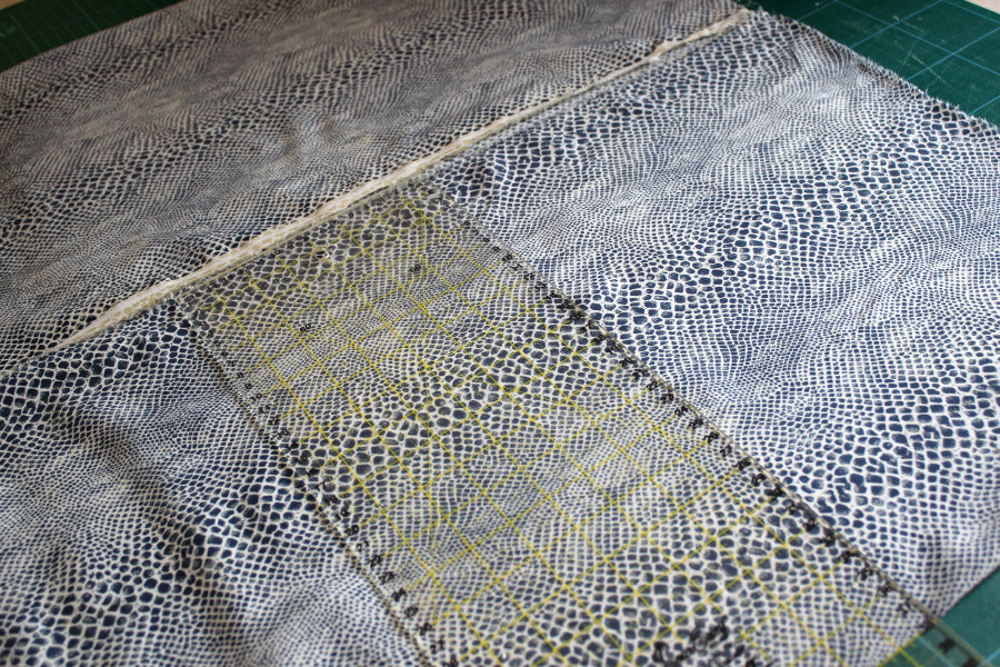 Laying out the fabric