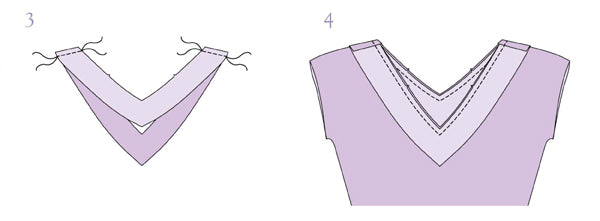 V-neck facing sewing tutorial