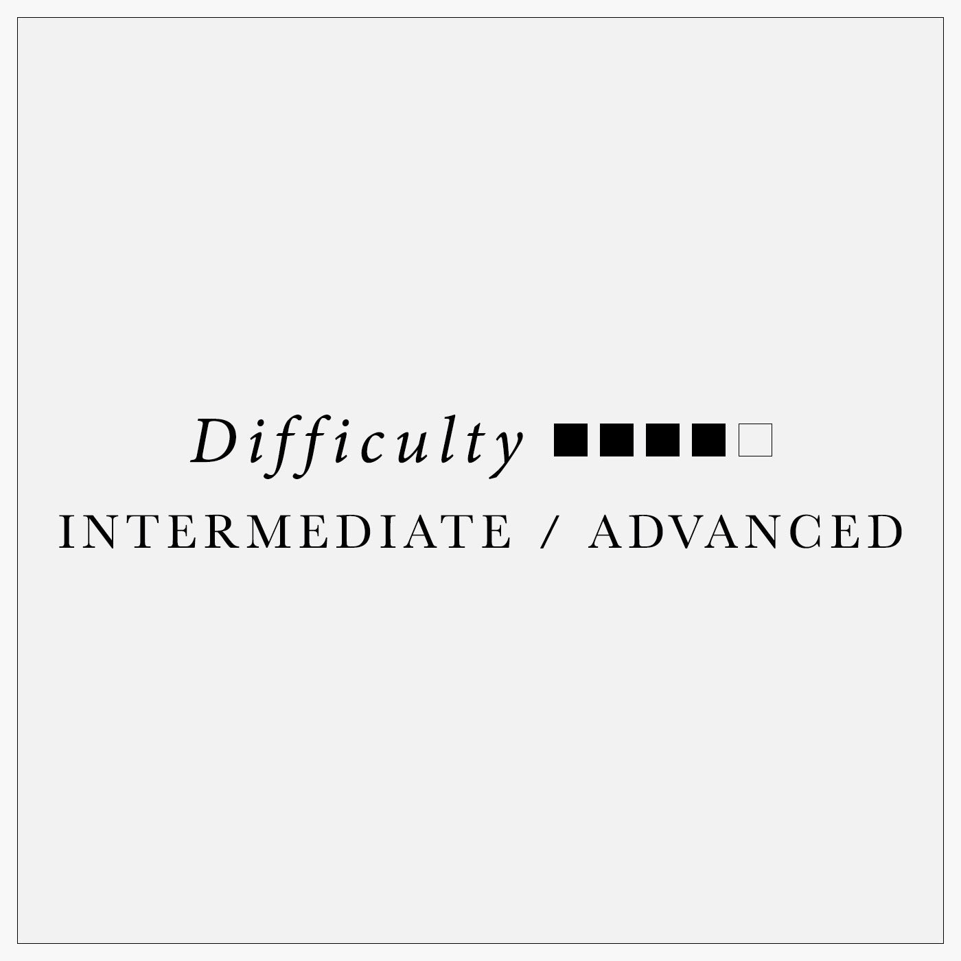 pattern difficulty: intermediate/advanced
