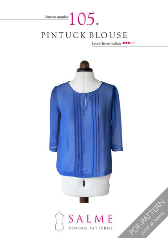Pattern no 105 Pintuck blouse