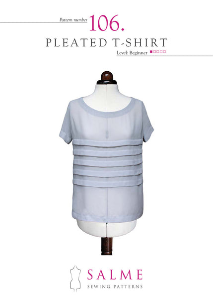 Loose Fitting Pleated T-shirt Paper Pattern