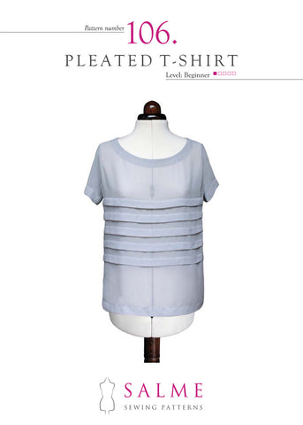Paper pattern no 106 Pleated t-shirt