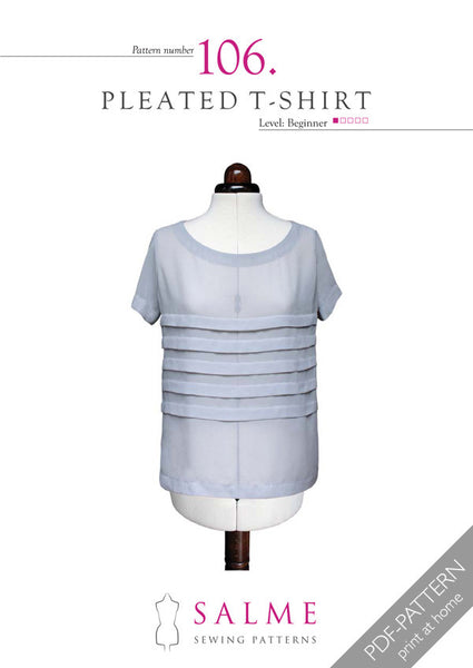 Digital Sewing Pattern - Loose Fitting Pleated T-shirt