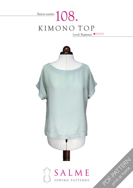 Digital Sewing Pattern - Kimono Top