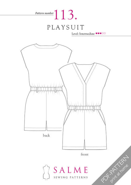 Digital Sewing Pattern - Playsuit