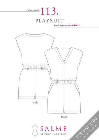 Pattern no 113 Playsuit