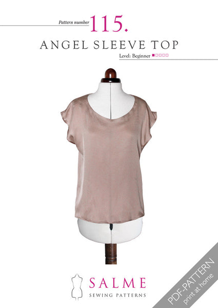 Digital Sewing Pattern - Angel Sleeve Top