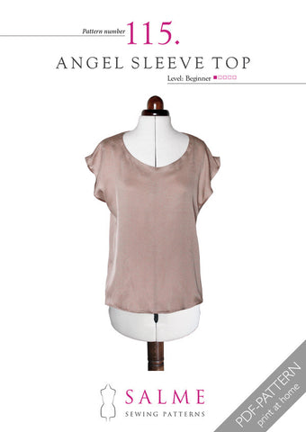 Pattern no 115 Angel Sleeve Top