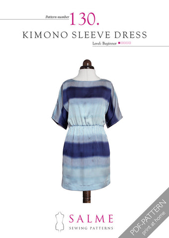 Pattern no 130 Kimono sleeve dress