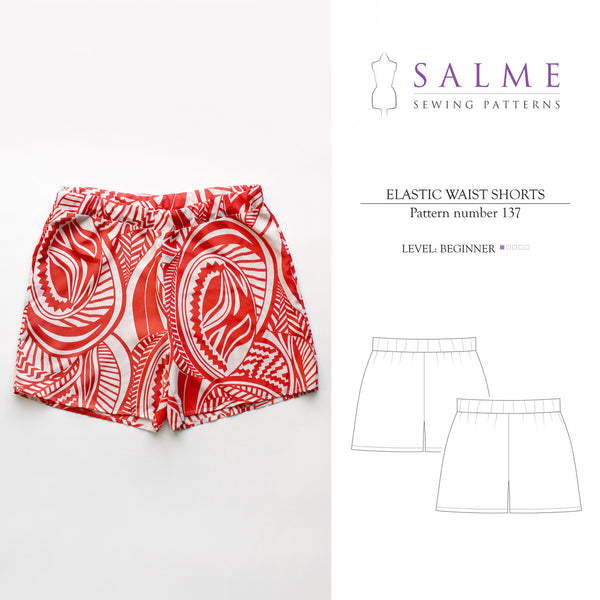 Digital Sewing Pattern - Elastic Waist Shorts