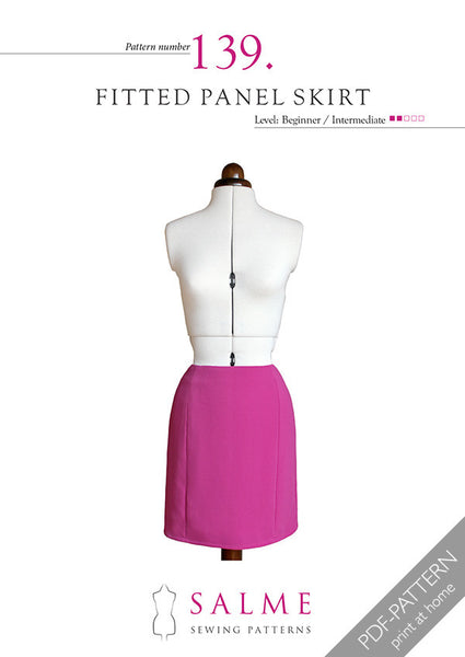 Digital Sewing Pattern - Fitted Panel Skirt